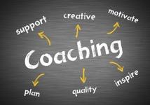 Coaching wirtten blackboard concept